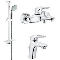 124416 GROHE Eurostyle New Комплект смесителей с душем