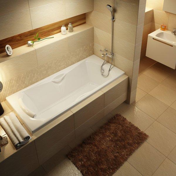 Прямоугольная ванна встроенная