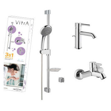 Купить комплект смесителей vitra оформление плитками ванных комнат
